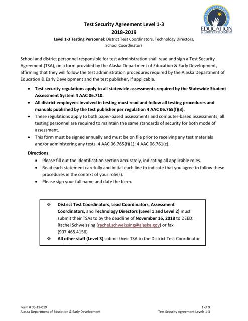 Form 05-19-019 2019 Printable Pdf