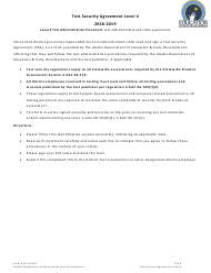 "Form 05-19-020 ""Test Security Agreement Level 4"" - Alaska, 2019"