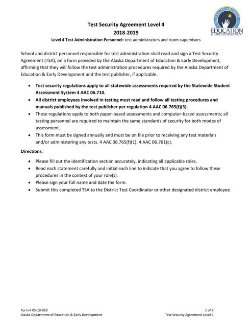 Form 05-19-020 2019 Printable Pdf