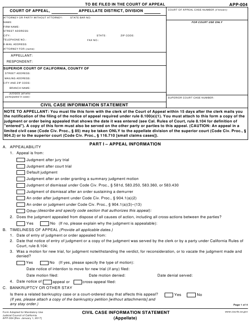 Form APP-004  Printable Pdf