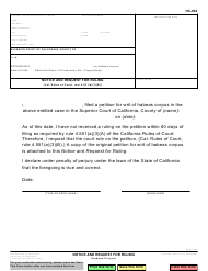 "Form HC-004 ""Notice and Request for Ruling"" - California"