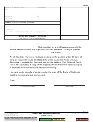 Form HC-004 Notice and Request for Ruling - California