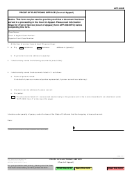 Form APP-009E Proof of Electronic Service - California