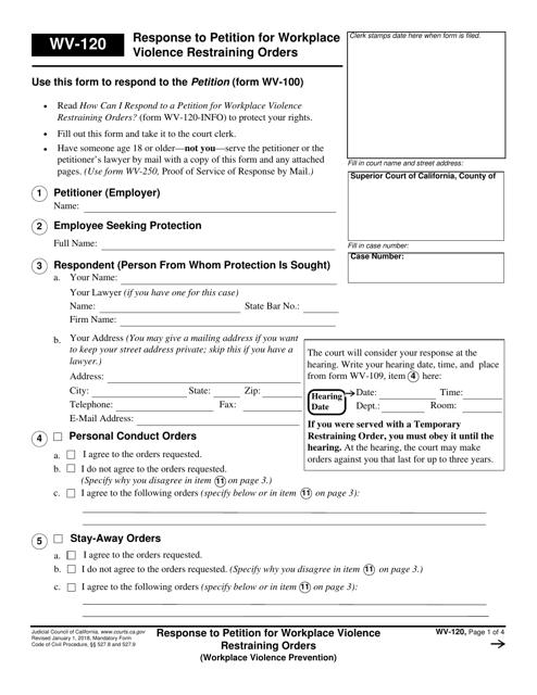 Form WV-120  Printable Pdf