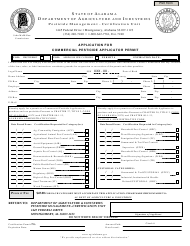 Application for Commercial Pesticide Applicator Permit (First Permit and Add-On) - Alabama