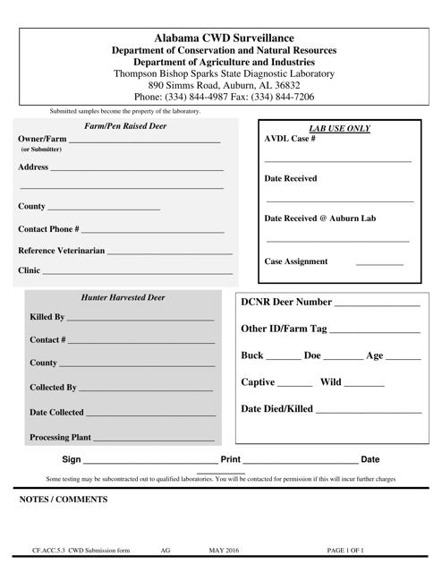 Form CF.ACC.5.3  Printable Pdf