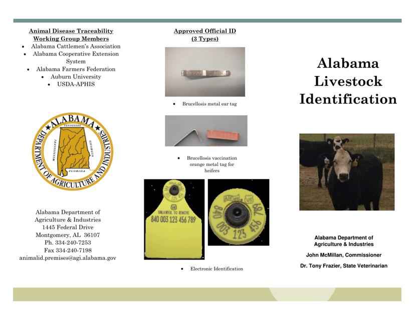 """""""Premises Registration Form"""" - Alabama Download Pdf"""