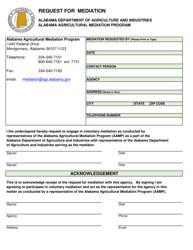Request for Mediation - Alabama