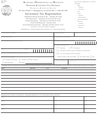 Form STR-1 Severance Tax Registration - Alabama