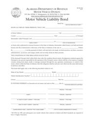 "Form MV MLI-004 ""Motor Vehicle Liability Bond"" - Alabama"