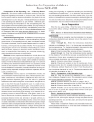 Instructions for Form Nol-F85 - Computation of Net Operating Loss - Fiduciary Return (Form 41)