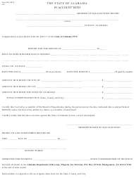"Form ADV: BE-8 ""Board of Equalization of Compensation"" - Alabama"