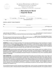 Form TOB: NPM BOND Non-participating Manufacturer/Importer Tobacco Bond - Alabama