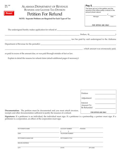 Form B&L: RP  Printable Pdf