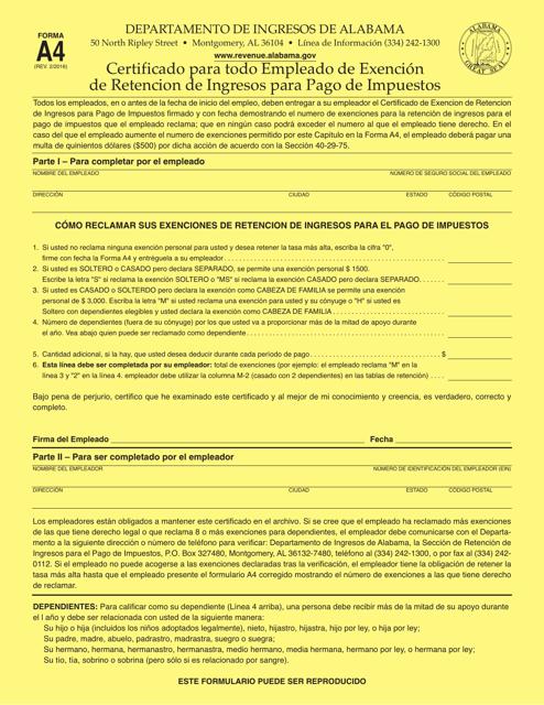 Formulario A4  Printable Pdf