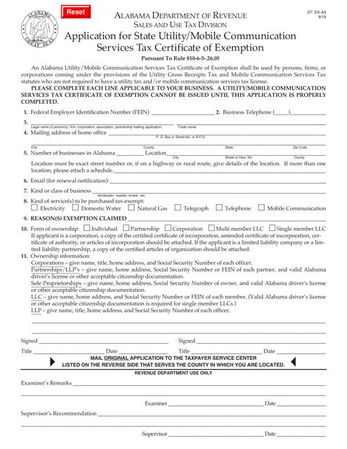 Form ST: EX-A3  Printable Pdf