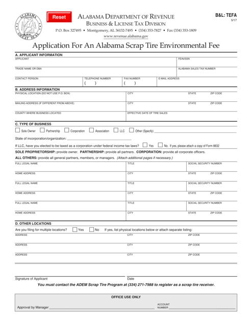 Form B&L:TEFA  Printable Pdf
