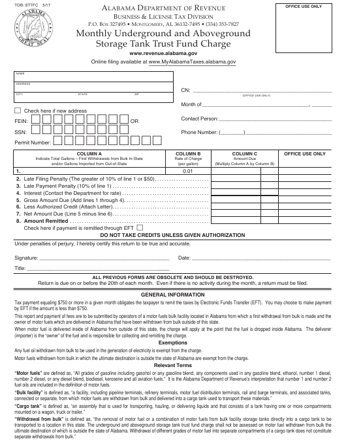 Form TOB: STTFC  Printable Pdf