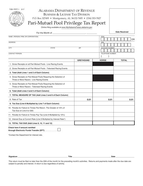 Form TOB: PPPT-1  Printable Pdf
