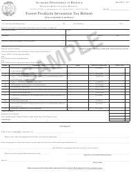 "Form B&L: FPST-1 ""Forest Products Severance Tax Return - Sample"" - Alabama"