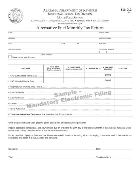 Form B&L: CLG  Printable Pdf