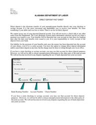 "Form DD-2 ""Direct Deposit Fact Sheet"" - Alabama"