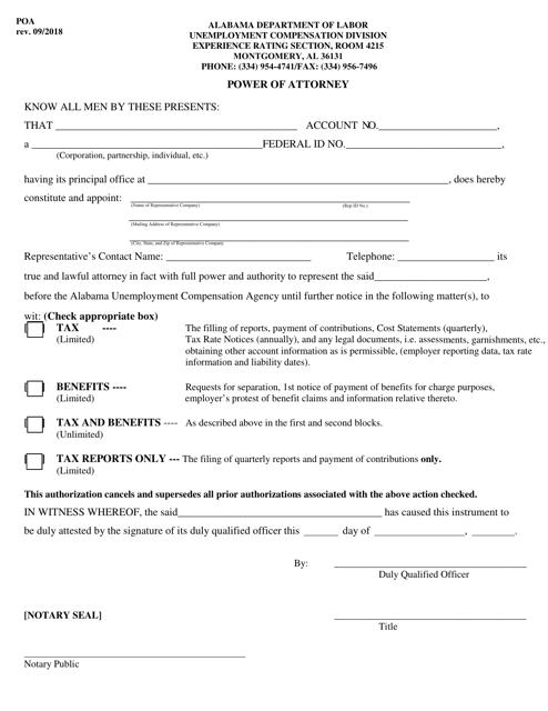 Form POA  Printable Pdf