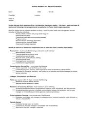 Public Health Case Record Checklist - California