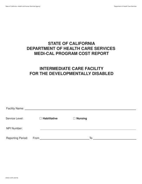 Form DHCS3076  Printable Pdf