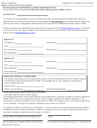 Form DHCS 5267 Provider Information Management System (Pims) County Approver Certification & Vendor Appointment Form - California