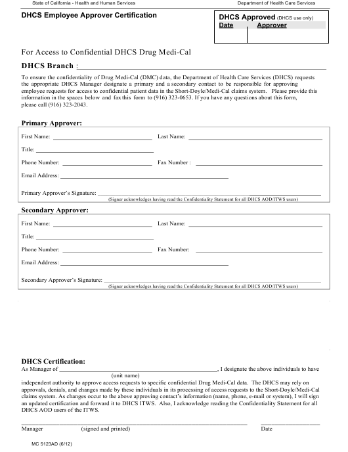Form MC5123AD  Printable Pdf