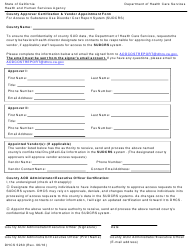 Form DHCS 5260 County Approver Certification & Vendor Appointment Form For Access To Substance Use Disorder Cost Report System (sudcrs) - California