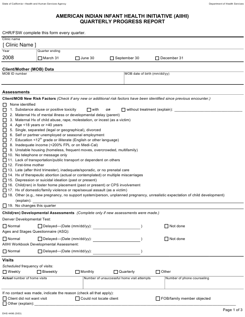 Form DHS4496  Printable Pdf