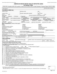 Form DHCS 4496 American Indian Infant Health Initiative (Aiihi) Database Form - California