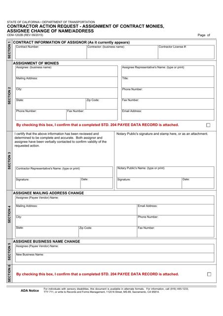 Form CEM-1202B  Printable Pdf