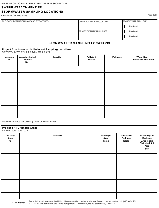 Form CEM-20EE  Printable Pdf
