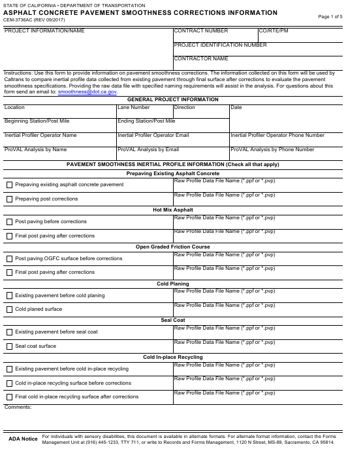 Form CEM-3736AC  Printable Pdf