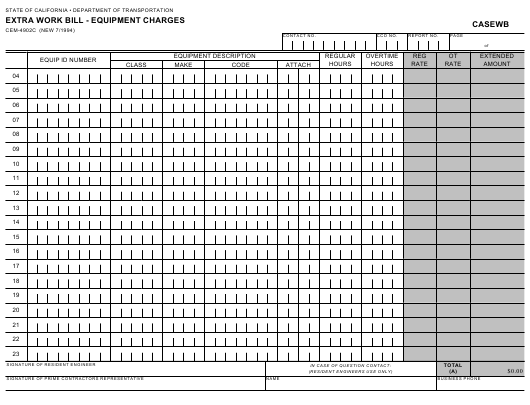 Form CEM-4902C  Printable Pdf