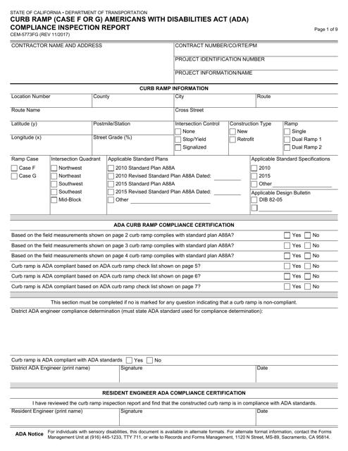 Form CEM-5773FG  Printable Pdf