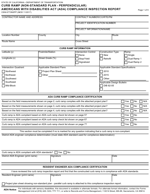 Form CEM-5773NSPP  Printable Pdf
