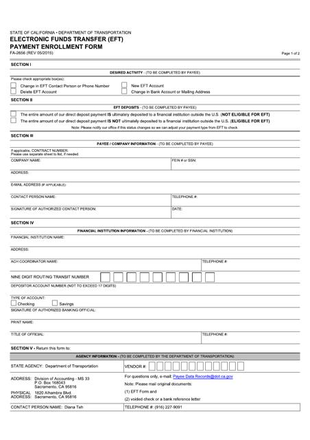 Form FA-2656  Printable Pdf