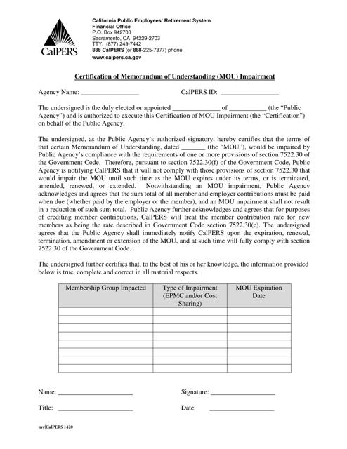 Form 1420  Printable Pdf