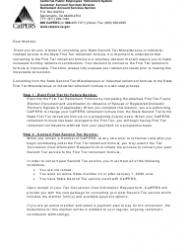 Form 0890 First Tier Future Election Package - California
