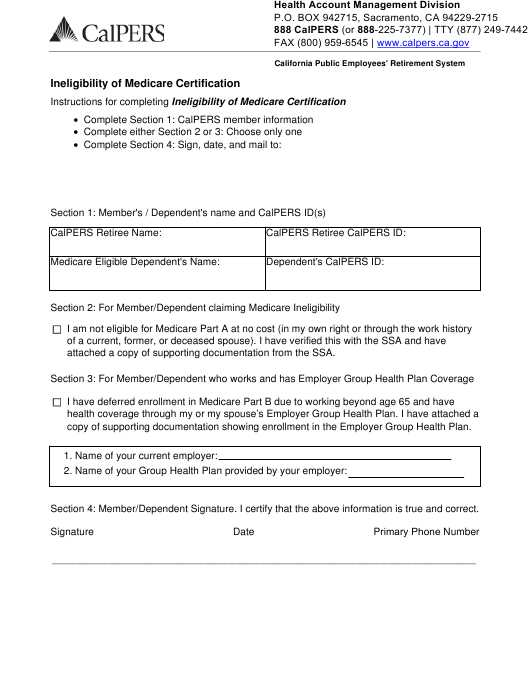 """""""Ineligibility of Medicare Certification"""" - California Download Pdf"""