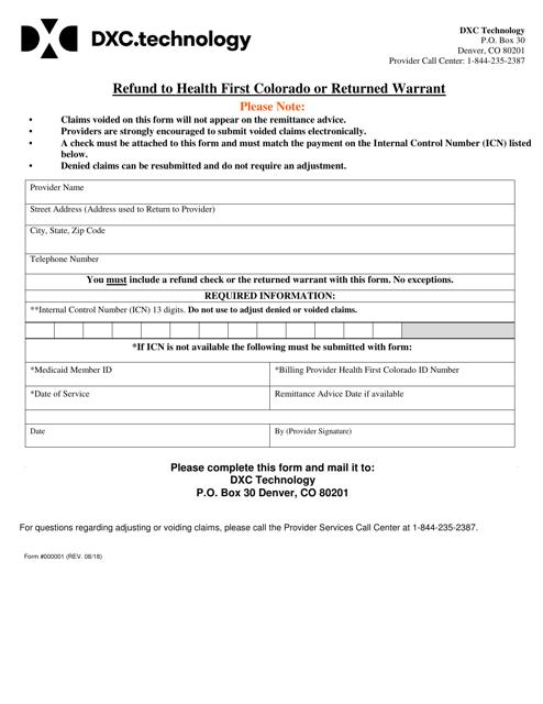 Form 000001  Printable Pdf