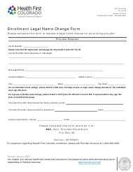 """Enrollment Legal Name Change Form"" - Colorado"