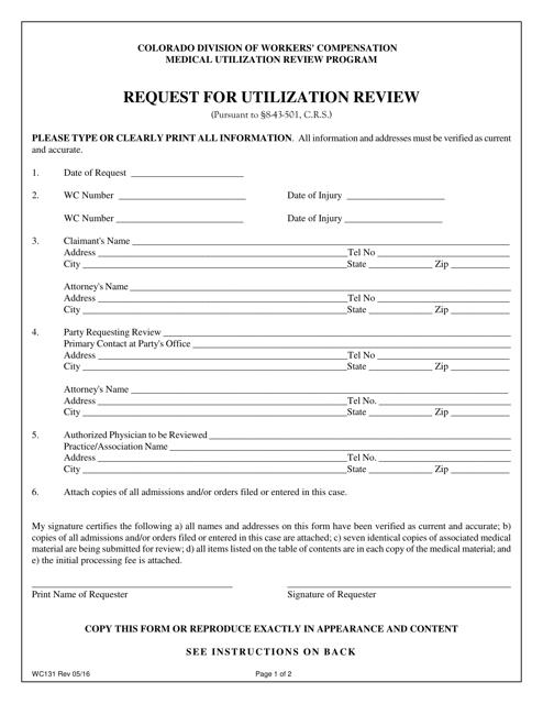 Form WC131  Printable Pdf