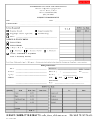 "Form WC134 ""Request for Services"" - Colorado"
