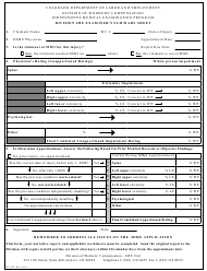 Form WC 132 Division Ime Examiner's Summary Sheet - Colorado