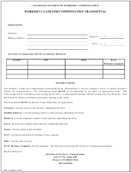 Form WC 174 Worker's Claim for Compensation Transmittal - Colorado